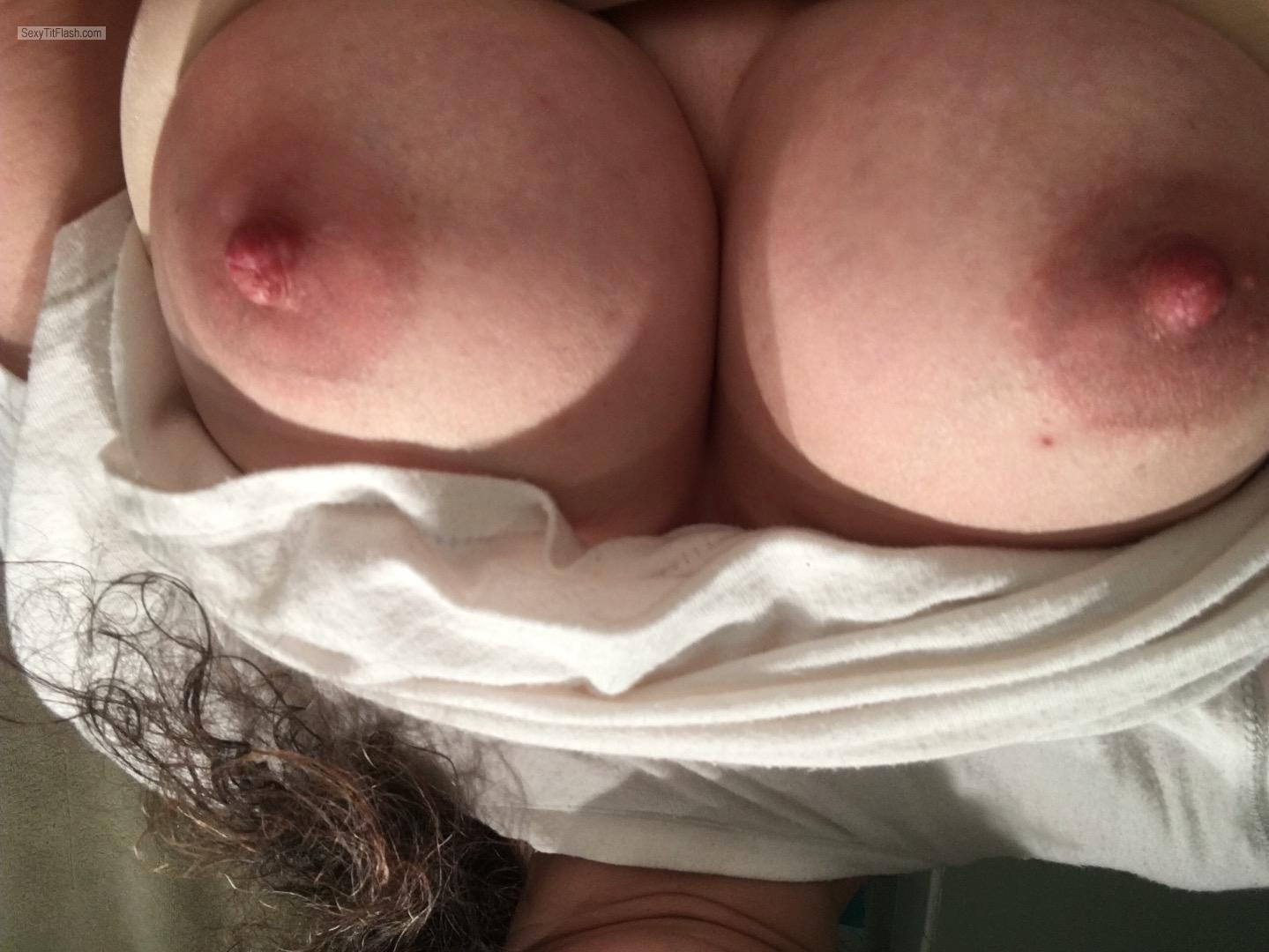 Tit Flash: Wife's Big Tits - Big44 from United States